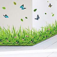 Decal dán tường trang trí phòng khách, quán cafe- Chân rào hoa bướm- DXL7180 thumbnail
