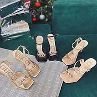 (có video) Giày nữ sandal gc phối dây cục sang trong (cao 9F) thumbnail