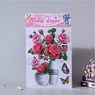 Decal dán tường bình hoa nổi 3D thumbnail