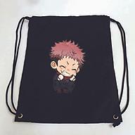 Balo dây rút đen in hình JUJUTSU KAISEN anime chibi PITA túi rút đi học xinh xắn thời trang thumbnail