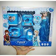 Bộ đồ chơi đồ dùng gia đình của Búp bê nữ hoàng băng giá Frozen Elsa có nhạc, đèn - Tặng kèm búp bê Elsa (mẫu ngẫu nhiên) thumbnail