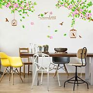 Decal dán tường trang trí Tết chào xuân mới - Đào mẫu đơn- mã sp DJM7178 thumbnail
