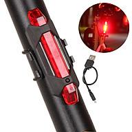 Đèn 5 LED Cảnh báo sau Xe Đạp giúp đạp xe an toàn ban đêm 4 chế độ sáng (Đèn Đỏ) Mai Lee - Hàng chính Hãng thumbnail