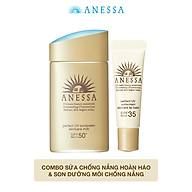 Bộ đôi Kem chống nắng dưỡng da dạng sữa bảo vệ hoàn hảo Anessa SPF 50+ PA++++ 60ml và Son dưỡng môi chống nắng Anessa Perfect UV Lip Balm SPF 35 PA+++ 5g thumbnail