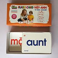Bộ thẻ học song ngữ Flash Card Việt - Anh -Từ đơn - từ kép cho bé thumbnail