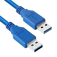 Cáp USB Chuẩn 3.0 Hai Đầu Đực Màu Xanh Cao Cấp AZONE thumbnail