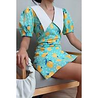 Đầm Hoa Cổ V Tay Phồng EDINI - D1396 thumbnail