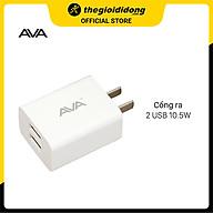 Adapter sạc USB 10W Dual AVA U215 Trắng - Hàng Chính Hãng thumbnail
