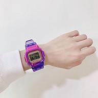Đồng hồ điện tử thể thao nam nữ Sp3, khung màu titan dây silicon full chức năng. thumbnail