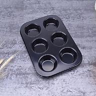 Khuôn nướng bánh 6 ngăn chống dính 26.5x18.5x3.2cm, chọn màu theo ý+ Tặng kèm dụng cụ tách trứng, màu ngẫu nhiên thumbnail