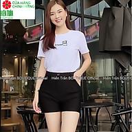 Quần short nữ Hiền Trần BOUTIQUE cạp cao chất vải Umi Hàn cao cấp co giãn tốt tôn dáng thumbnail