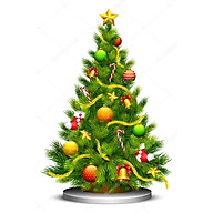 Decal cây thông noel 3 PK574 (80x125cm) thumbnail