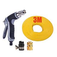 Bộ dây và vòi xịt tăng áp rửa xe tưới cây 3-5M (cút đồng nối nhựa đen) 206817 thumbnail