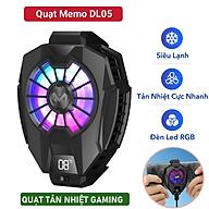 Quạt Tản Nhiệt Điện Thoại MEMO DL05 Siêu Lạnh, Hiển Thị Nhiệt Độ LED RGB Kẹp Thu Vào 2 Chiều thumbnail