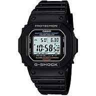 Casio Men s G5600E-1 G-Shock Grey Digital Dial Shock Resistant Watch thumbnail