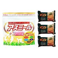Sữa Phát triển chiều cao Asumiru Nhật Bản 180g - Vị Đào ( cho bé 3-16 tuổi ) Tặng 03 bánh cracker tảo biển thumbnail