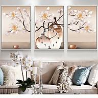 Tranh treo tường, tranh đồng hồ DH3437A bộ 3 tấm ghép thumbnail