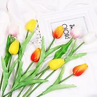 (Rẻ Vô Địch) Hoa Tulip Lá Xanh Đạo Cụ Chụp Ảnh Trang Trí thumbnail