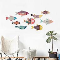 BỘ TRANH COLOR FISHES TREO TƯỜNG TRANG TRÍ PHÒNG KHÁCH, PHÒNG NGỦ, PHÒNG ĂN - TẶNG KÈM BĂNG DÍNH 3M SIÊU DÍNH TREO TRANH CHUYÊN DỤNG - FH16 thumbnail