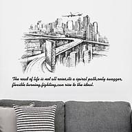 Decal dán tường Hình dán trang trí Thành Phố Hoa Lệ SK9224 thumbnail