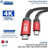 Cáp Chuyển Đổi Type C sang HDMI CV0030 JSAUX 4K 60Hz 3M Cho Tất Cả Thiết Bị Type C Macbook, Samsung, Oppo, Huawei...- Hàng chính hãng thumbnail
