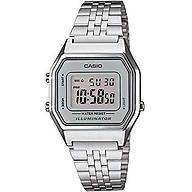 Casio Ladies Mid-Size Silver Tone Digital Retro Watch LA-680WA-7DF thumbnail