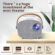 Aibecy YG230 Mini LED Projector 1080P Supported 1000 Lumens Portable Movie Projector Built-in Speaker with thumbnail