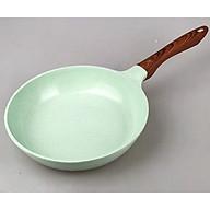 Chảo Đúc Chống Dính Đáy Từ Cao Cấp Green Cook Cán Gỗ Cao Cách Nhiệt Dùng Cho Mọi Loại Bếp (Màu Kem Sữa)-Hàng Chính Hãng thumbnail