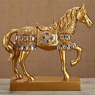 Ngựa phong thủy mạ vàng bạc cao cấp mang lại tài lộc thumbnail