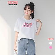 Áo phông nữ GINDY áo thun in hình cổ tròn dáng suông tay lỡ Unisex A20031 thumbnail
