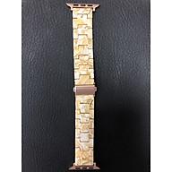 Dây đeo thay thế dành cho Apple Watch nhựa giả vân đá cao cấp 42mm thumbnail