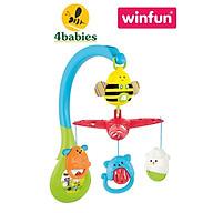 Treo nôi cũi phát nhạc tiếng ồn trắng ru ngủ đa năng hình con ong Winfun 0856 - Đồ chơi treo có thể tháo rời - tặng đồ chơi tắm 2 món thumbnail