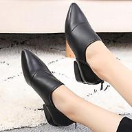 Giày boot nữ cao cấp cổ thấp phong cách hàn quốc 21204 thumbnail