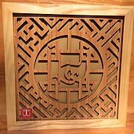 Tấm chống ám khói dành cho bàn treo, mầu vàng khung sồi chữ tài lộc - TL226 thumbnail