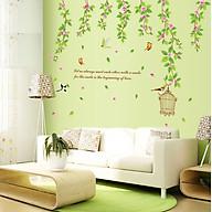 Decal dán tường chất liệu PVC loại 1, trang trí phòng khách- Tán lá xanh- mã sp AY9084 thumbnail