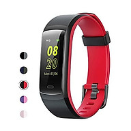 YAMAY Fitness Tracker, Fitness Watch Heart Rate Monitor Activity Tracker,Color Screen Dual-Color Bands IP68 Waterproof,with Step Counter Sleep Monitor 14 Sports Tracking for Women Men thumbnail