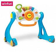 Đồ chơi Kệ chữ A kết hợp xe tập đi, bàn tập đứng cho bé có nhạc 3 tin 1 - Winfun 0846 cho bé sơ sinh tới 3 tuổi - tặng đồ chơi tắm 2 món thumbnail