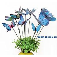 Combo 10 con Bướm 3D cắm lọ hoa, sân vườn, trang trí nhà cửa văn phòng thumbnail