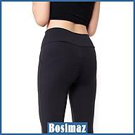 Quần Legging Nâng Mông Bosimaz MS521 dài túi trước màu đen, thun co giãn 4 chiều, vải đẹp dày, thoáng mát không xù lông. thumbnail