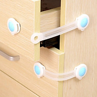 Bộ 2 Khóa Gài Cửa Tủ Lạnh,Ngăn Kéo,Cửa Phòng An Toàn Cho Bé thumbnail