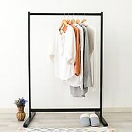 Giá Treo Quần Áo Gỗ Thanh Đơn Single Hanger Size L Nội Thất Kiểu Hàn BEYOURs - Đen thumbnail
