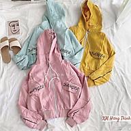 áo khoác dù nữ in chữ mũ trùm phong cách 0064 thumbnail