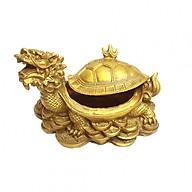 Tượng Tam Nguyên Cập Đệ Long Quy rùa đầu rồng bằng đồng thau Tâm Thành Phát thumbnail