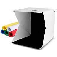 Hộp chụp sản phẩm 40cm x 40cm tích hợp 2 dây đèn Led phông nền 6 màu thumbnail