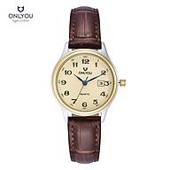 Đồng hồ Onlyou Nữ U1009LB Dây Da 30mm thumbnail