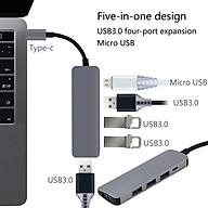 Hub-HBH-Bộ Chuyển Đổi Type-C Sang USB 3.0 HUB Ổ Cắm Dành Cho Macbook - Hàng Nhập Khẩu thumbnail