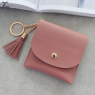 Ví mini đựng thẻ và tiền lẻ, thiết kế nhỏ gọn có móc gắn chìa khoá (PK421) thumbnail