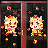 Decal trang trí nhà cửa, tết- Trâu vàng thần tài- NQR209144 thumbnail