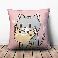 Gối Vuông Mèo Xám Ôm Mèo Vàng GVCT304 (36 x 36 cm) thumbnail
