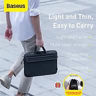 (Tặng túi TOPK đựng USB, cáp sạc, tai nghe) Túi đựng Laptop Baseus chống sốc, chống nước, dùng cho macbook, laptop kích thước 13 14 15 16 inch_Hàng chính hãng thumbnail